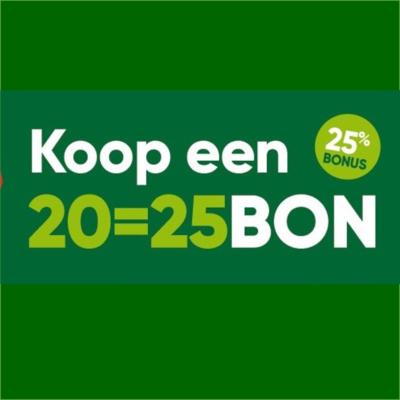 De braderijbon 20=25